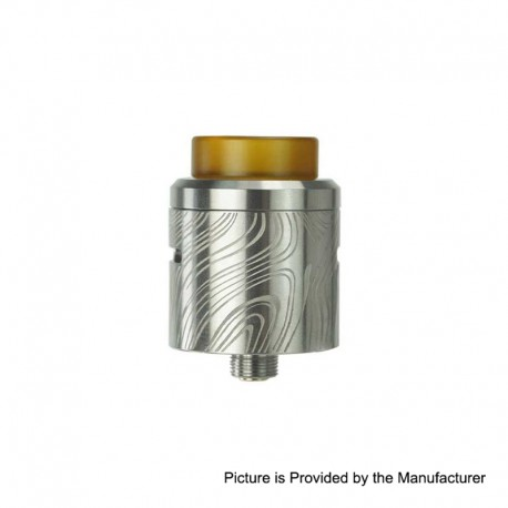 Authentic Wismec Guillotine V2 RDA Rebuildable Dripping Atomizer w/ BF Pin - Silver, Stainless Steel, 24mm Diameter