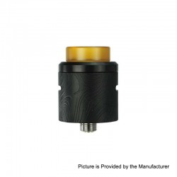 Authentic Wismec Guillotine V2 RDA Rebuildable Dripping Atomizer w/ BF Pin - Black, Stainless Steel, 24mm Diameter