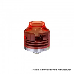 Authentic Oumier Wasp Nano Mini RDA Rebuildable Dripping Atomizer w/ BF Pin - Transparent Red, PC + SS, 22mm Diameter