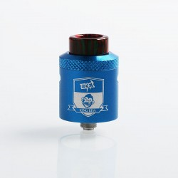 Authentic Coil Father King RDA Rebuildable Dripping Atomizer w/ BF Pin - Blue, Aluminum + Stainless Steel, 24mm Diameter