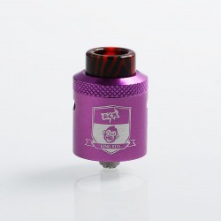 Authentic Coil Father King RDA Rebuildable Dripping Atomizer w/ BF Pin - Purple, Aluminum + Stainless Steel, 24mm Diameter