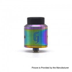 Goon 25 Style RDA Rebuildable Dripping Atomizer w/ BF Pin- Rainbow, Stainless Steel, 24mm Diameter