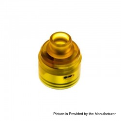 ShenRay Replacement Top Cap + 510 Drip Tip for Wave Style BF RDA - Yellow, PEI