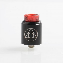 Authentic Blitz Hermetic RDA Rebuildable Dripping Atomizer w/ BF Pin- Black, Stainless Steel, 22mm Diameter