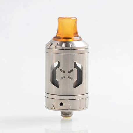 Authentic Hugsvape Chalice MTL RTA Rebuildable Tank Atomizer - Silver, Stainless Steel, 2ml, 24mm Diameter