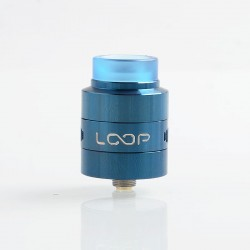 Authentic GeekVape Loop V1.5 RDA Rebuildable Dripping Atomizer w/ BF Pin - Blue, Stainless Steel, 24mm Diameter