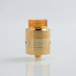 Authentic GeekVape Loop V1.5 RDA Rebuildable Dripping Atomizer w/ BF Pin - Gold, Stainless Steel, 24mm Diameter