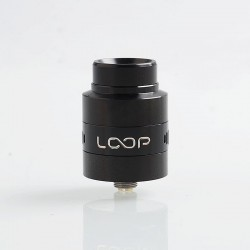Authentic GeekVape Loop V1.5 RDA Rebuildable Dripping Atomizer w/ BF Pin - Black, Stainless Steel, 24mm Diameter