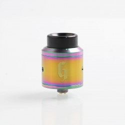 Goon Style RDA Rebuildable Dripping Atomizer w/ BF Pin - Rainbow, Stainless Steel, 25mm Diameter
