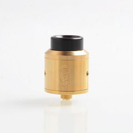 Goon Style RDA Rebuildable Dripping Atomizer w/ BF Pin - Gold, Stainless Steel, 25mm Diameter