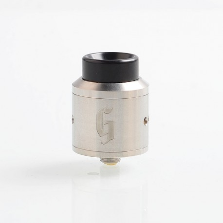Goon Style RDA Rebuildable Dripping Atomizer w/ BF Pin - Silver, Stainless Steel, 25mm Diameter