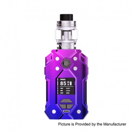 Authentic HAVA Firefly 85W 2000mAh TC VW Mod + Vtank Kit - Nebula Purple, Zinc Alloy + Stainless Steel, 5~85W, 5ml, 24mm