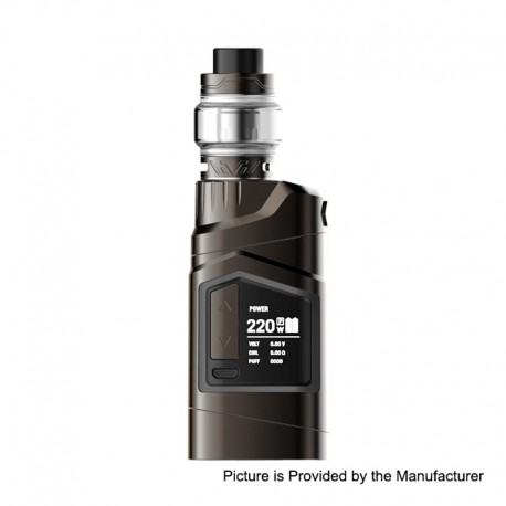 Authentic HAVA Goliath Beetles 220W TC VW Mod + Vtank Kit - Gun Metal, 5~220W, 2 x 18650, 5ml, 24mm Diameter