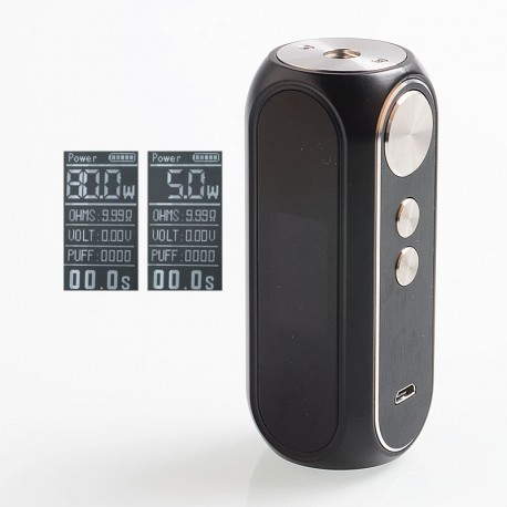 Authentic OBS Cube 80W 3000mAh VW Variable Wattage Built-in Battery Box Mod - Black, Zinc Alloy