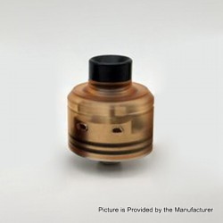 Citadel Style RDA Rebuildable Dripping Atomizer w/ BF Pin - Yellow, Stainless Steel + PEI, 22mm Diameter