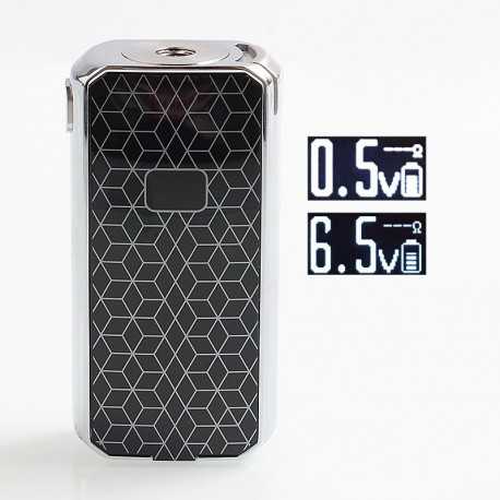 Authentic Augvape Druga Foxy 150W VW Variable Wattage Box Mod - Silver, 2 x 18650