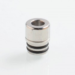 SteamTuners T8 Style 510 Drip Tip for RDA / RTA / Sub Ohm Tank Atomizer - Silver, Stainless Steel, 12mm