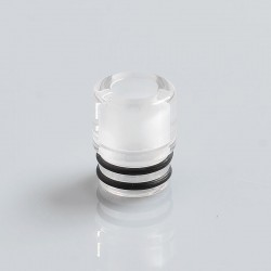 SteamTuners T8 Style 510 Drip Tip for RDA / RTA / Sub Ohm Tank Atomizer - Transparent, PMMA, 12mm
