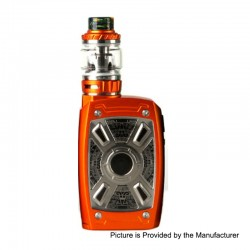 Authentic Tesla XT Mini 220W TC VW Variable Wattage Mod + Tallica Mini Tank - Orange, Zinc Alloy, 7~220W, 2 x 18650, 4ml, 25mm
