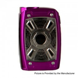 Authentic Tesla XT Mini 220W TC VW Variable Wattage Box Mod - Purple, Zinc Alloy, 7~220W, 2 x 18650