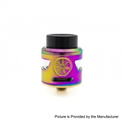 Authentic Asmodus Bunker RDA Rebuildable Dripping Atomzier w/ BF Pin - Rainbow, Stainless Steel, 24.5mm Diameter