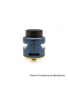 Authentic Asmodus Bunker RDA Rebuildable Dripping Atomzier w/ BF Pin - Blue, Stainless Steel, 24.5mm Diameter