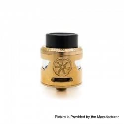 Authentic Asmodus Bunker RDA Rebuildable Dripping Atomzier w/ BF Pin - Rose Gold, Stainless Steel, 24.5mm Diameter