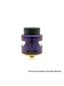 Authentic Asmodus Bunker RDA Rebuildable Dripping Atomzier w/ BF Pin - Purple, Stainless Steel, 24.5mm Diameter