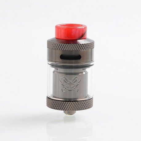 Authentic Hellvape Dead Rabbit RTA Rebuildable Tank Atomizer - Gun Metal, 2ml / 4.5ml, 25mm Diameter