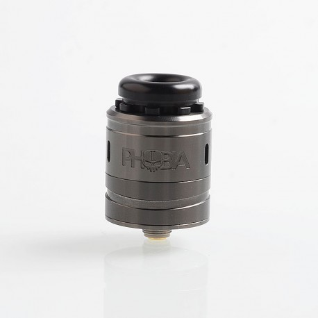Authentic Vandy Vape Phobia V2 RDA Rebuildable Dripping Atimizer w/ BF Pin - Gun Metal, Stainless Steel, 24mm Diameter