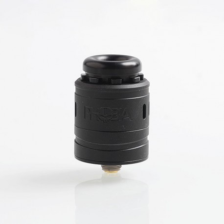 Authentic Vandy Vape Phobia V2 RDA Rebuildable Dripping Atimizer w/ BF Pin - Black, Stainless Steel, 24mm Diameter