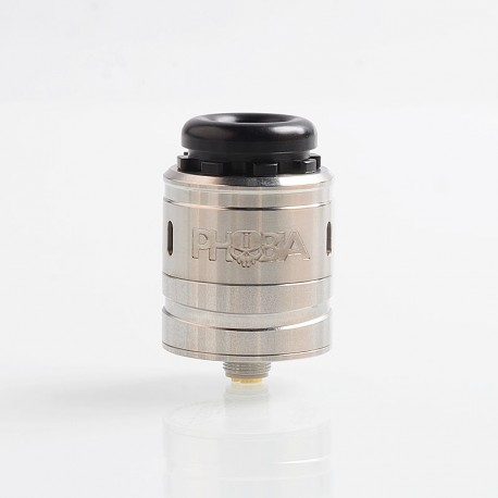Authentic Vandy Vape Phobia V2 RDA Rebuildable Dripping Atimizer w/ BF Pin - Silver, Stainless Steel, 24mm Diameter