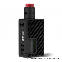 Authentic Vandy Vape Pulse X 90W Squonk Mod + Pulse X BF RDA Kit - Carbon Fiber Full Black, 5~90W, 1 x 18650 / 20700 / 21700