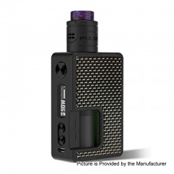 Authentic Vandy Vape Pulse X 90W Squonk Mod + Pulse X BF RDA Kit - Carbon Fiber Silver Black, 5~90W, 1 x 18650 / 20700 / 21700