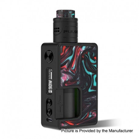 Authentic Vandy Vape Pulse X 90W TC VW Squonk Box Mod + Pulse X BF RDA Kit - Lava Red, 5~90W, 1 x 18650 / 20700 / 21700