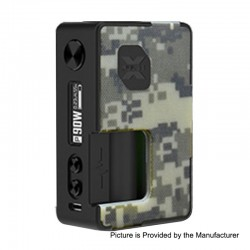 Authentic Vandy Vape Pulse X 90W TC VW Variable Wattage Squonk Box Mod - Camouflage, 5~90W, 1 x 18650 / 20700 / 21700