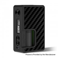 Authentic Vandy Vape Pulse X 90W TC VW Variable Wattage Squonk Mod - Carbon Fiber Full Black, 5~90W, 1 x 18650 / 20700 / 21700