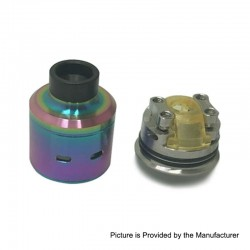 Citadel Style RDA Rebuildable Dripping Atomizer w/ BF Pin - Rainbow, Stainless Steel, 24mm Diameter
