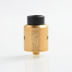 Goon 25 Style RDA Rebuildable Dripping Atomizer w/ BF Pin- Gold, Stainless Steel, 24mm Diameter