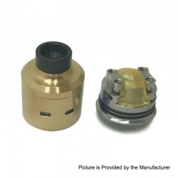 Citadel Style RDA Rebuildable Dripping Atomizer w/ BF Pin - Gold, Stainless Steel, 24mm Diameter