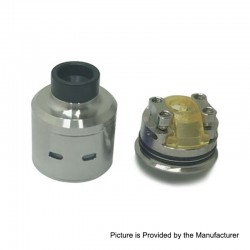 Citadel Style RDA Rebuildable Dripping Atomizer w/ BF Pin - Silver, Stainless Steel, 24mm Diameter