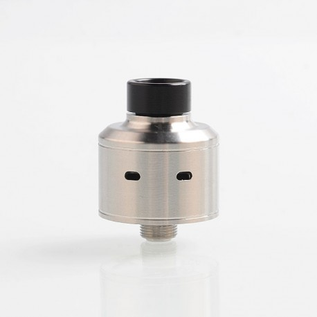 Vapeasy Citadel Style RDA Rebuildable Dripping Atomizer w/ BF Pin - Silver, 316 Stainless Steel, 22mm Diameter
