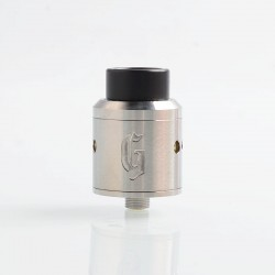 Goon 25 Style RDA Rebuildable Dripping Atomizer w/ BF Pin- Silver, Stainless Steel, 24mm Diameter