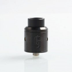 Goon 25 Style RDA Rebuildable Dripping Atomizer w/ BF Pin- Black, Stainless Steel, 24mm Diameter