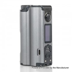 Authentic Dovpo Topside 90W TC VW Variable Wattage Squonk Box Mod - Gun Metal, 10ml, 1 x 18650 / 21700