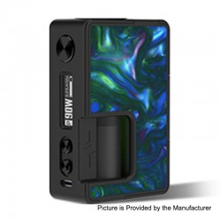 Authentic Vandy Vape Pulse X 90W TC VW Variable Wattage Squonk Box Mod - Seaweed Green, 5~90W, 1 x 18650 / 20700 / 21700