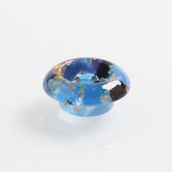 810 Replacement Drip Tip for Goon / Kennedy / Reload / Battle RDA - Blue + Gold, Resin, 9mm