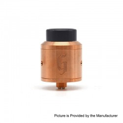 Vapeasy Goon Style RDA Rebuildable Dripping Atomizer w/ BF Pin - Copper + 316 Stainless Steel, 25mm Diameter