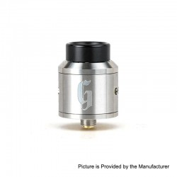 Vapeasy Goon Style RDA Rebuildable Dripping Atomizer w/ BF Pin - Silver, 316 Stainless Steel, 25mm Diameter
