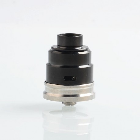 ShenRay Entheon Style RDA Rebuildable Dripping Atomizer w/ BF Pin + Spare Drip Tips - Black, 316 Stainless Steel, 22mm Diameter